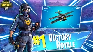 Fortnite-AIRPLANE VERY TOP & NEW SKIN!!!