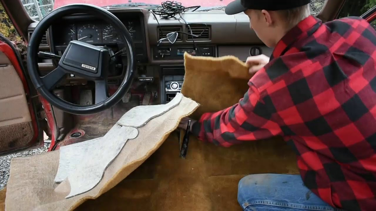 How To Install Carpet Kit In 1984 1988 Toyota Pickup Truck Youtube