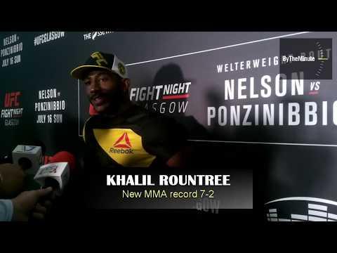 Khalil Rountree UFC Glasgow post fight media scrum
