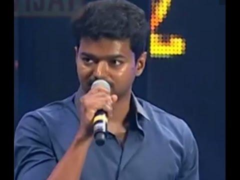 Vijay Speech in Vijay awards 2014 About Next Super star