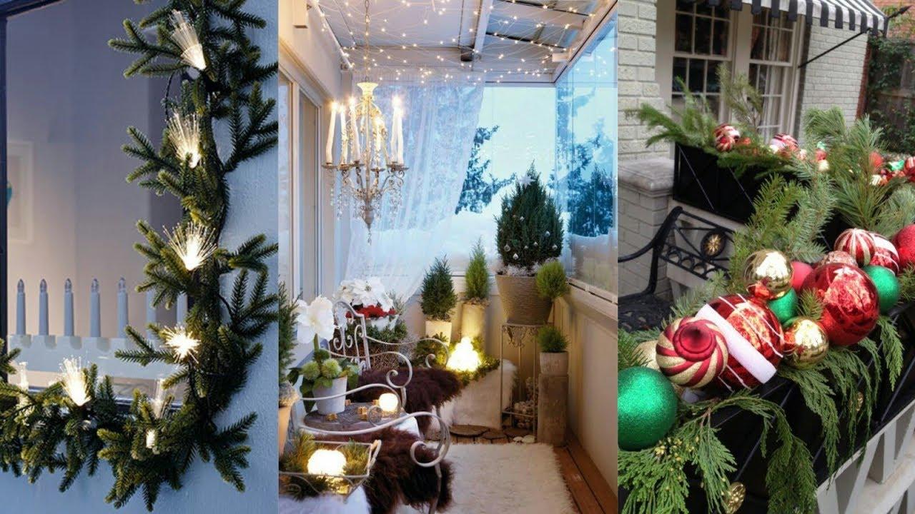 Decoraci n de navidad de balcones y terrazas tendencias for Terrazas 2018 decoracion