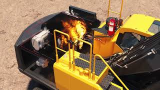 Reacton Heavy Plant Excavator Single Agent Automatic Fire Suppression System