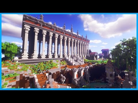 "Minecraft - ""THANASYS"" Greek City with a Huge Temple - Cinematic & Map Download"
