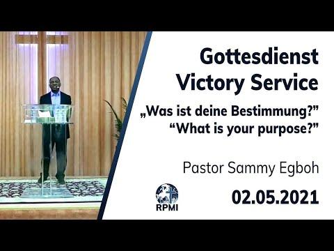 """RPMI-Gottesdienst - 02.05.2021 - Pastor Sammy Egboh """"Was ist deine Bestimmung?"""""""