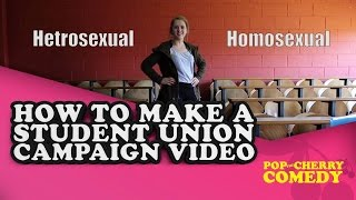 How to make a Student Union Campaign Video(Created by Alison Ring & David Atkinson Performed by Alison Ring Directed & edited by David Atkinson Pop the Cherry is comedy brought to you by young, new ..., 2015-03-14T10:39:12.000Z)