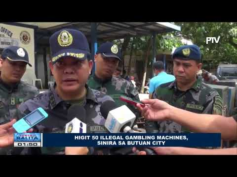 Higit 50 illegal gambling machines, sinira sa Butuan City