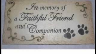 Pet Memory Stone In Memorial Faithful Friend