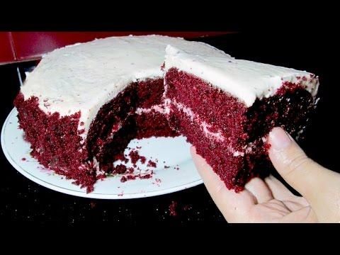 Red Velvet Cake Recipe - Without Oven Red Velvet Cake - Easy Cake Recipe