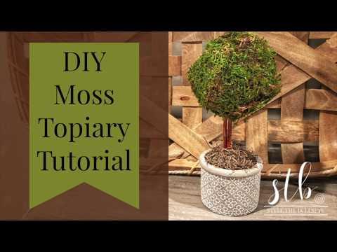 DIY Moss Topiary Tutorial 2019 (Easy)
