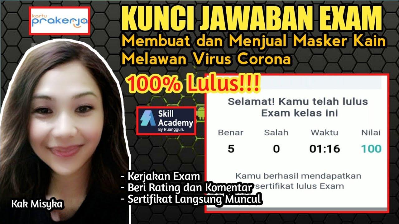 Kunci Jawaban Exam Skill Academy Masker : Kunci Jawaban ...