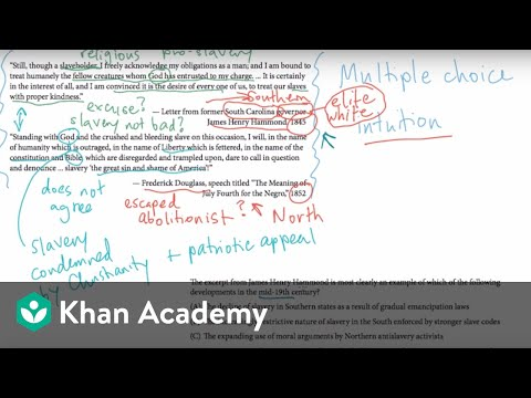 AP US History Multiple Choice Example 1 | US History | Khan Academy