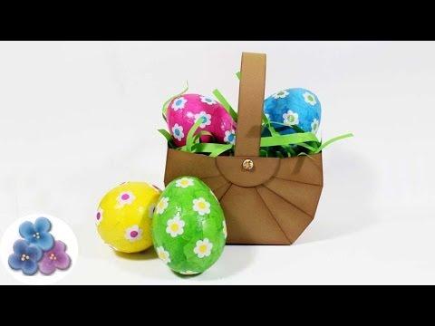 Canasta Para Huevos Manualidades.Como Hacer Canastas Para Huevos De Pascua Diy Scrapbook Manualidades Con Papel Pintura Facil