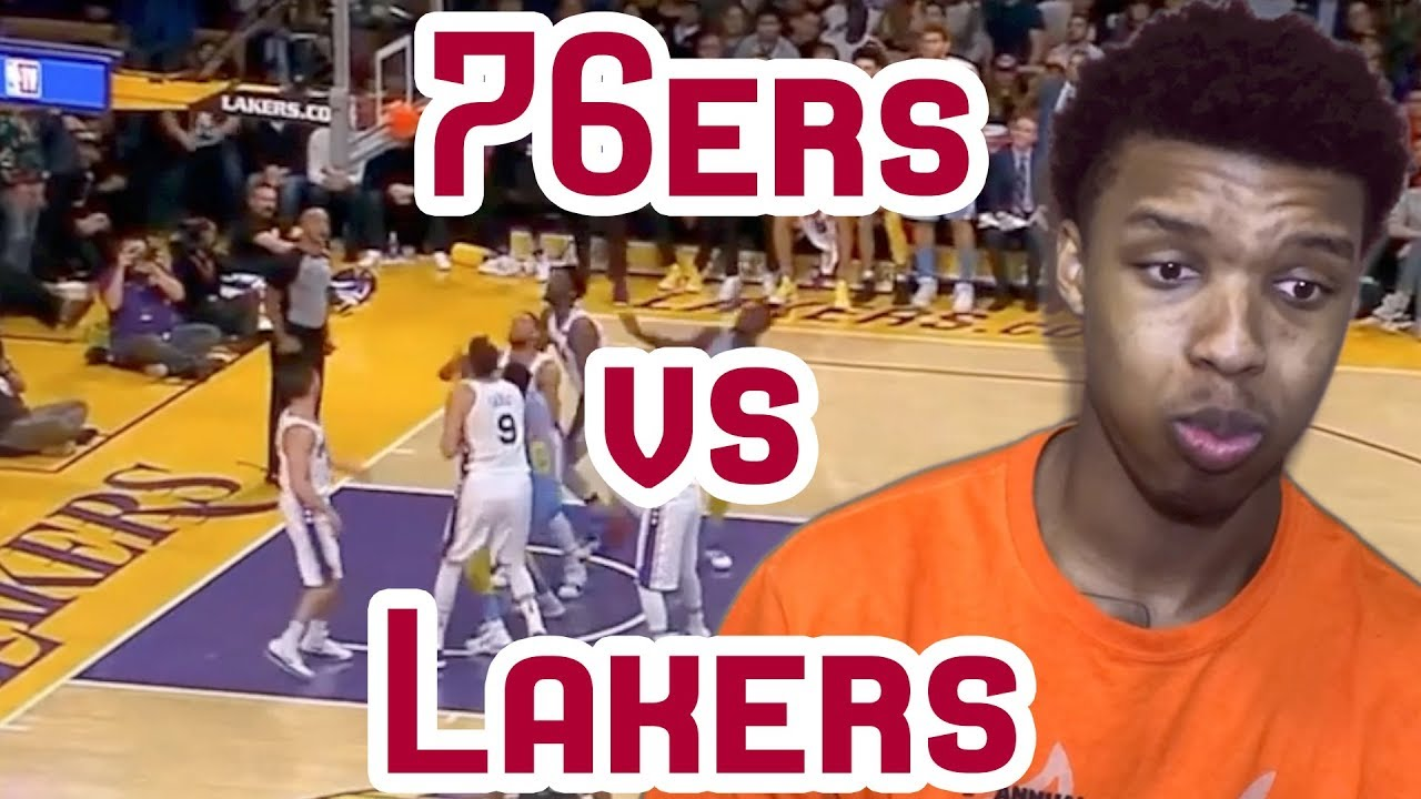 JOEL EMBIID HALL OF FAME NUMBERS! 76ERS VS LAKERS FULL NBA ...
