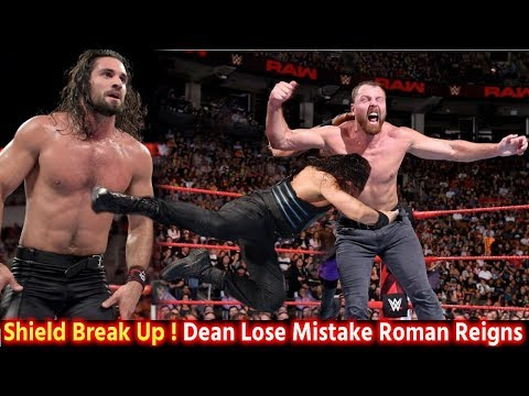 Dean Ambrose Lose By Roman Reigns Mistake   WWE Shield Break Up after RAW Match - Seth Rollins Lose