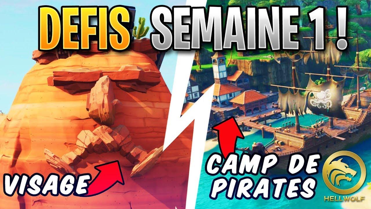 Defis fortnite saison 8 camp de pirate