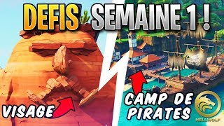FORTNITE - PIRATES CAMPS, POSITION VISAGES - FREE PALIER! Week 1 Season 8 Challenge Guide