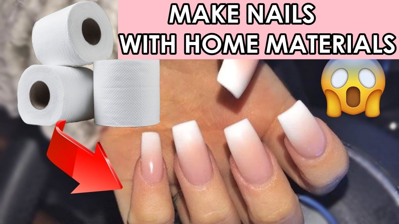 DIY 12 DIFFERENT FAKE NAILS WITH HOME MATERIALS / 12 minutes crafts nail hacks