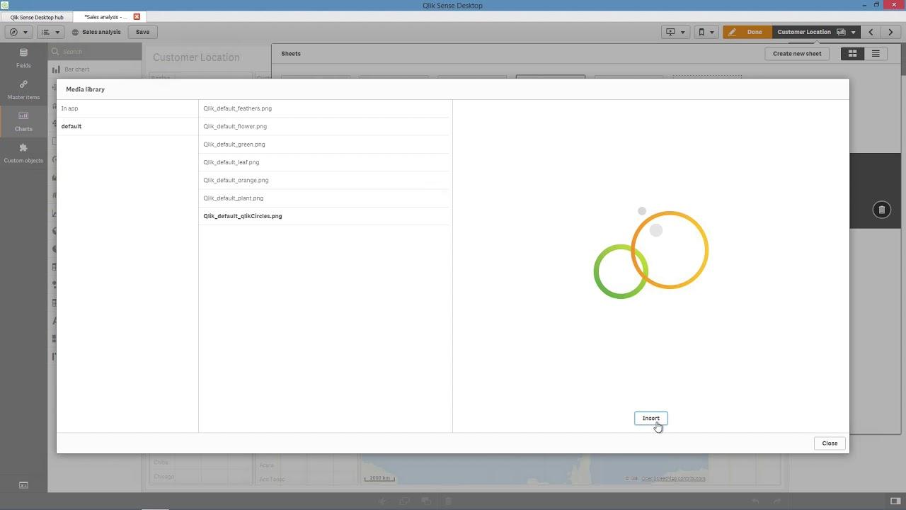 Creating a new sheet and modifying the grid size - Qlik Sense