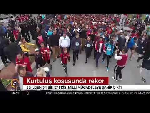 Gaziantep Kurtuluş Koşusu'nda 55 ilden 54 bin 241 kişinin katılmasıyla rekor kırıldı