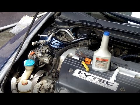 Power Steering Fluid Change - Honda Accord - YouTube
