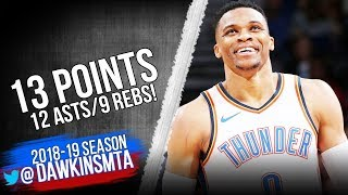 Russell Westbrook Full Highlights 2018 12 15 Thunder vs Clippers   13 9 12  FreeDawkins