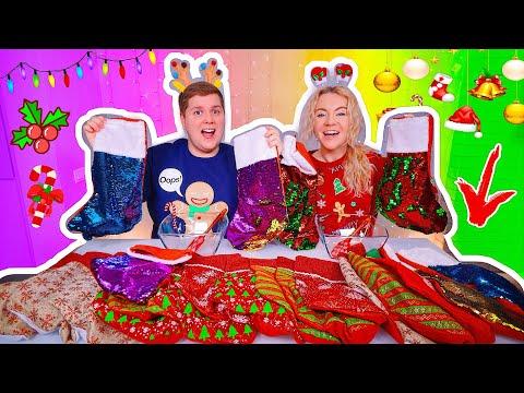 ТАЙНЫЕ Рождественские НОСКИ СЛАЙМ ЧЕЛЛЕНДЖ 💝 ЛИЗУН из Случайных Ингредиентов Slime Challenge