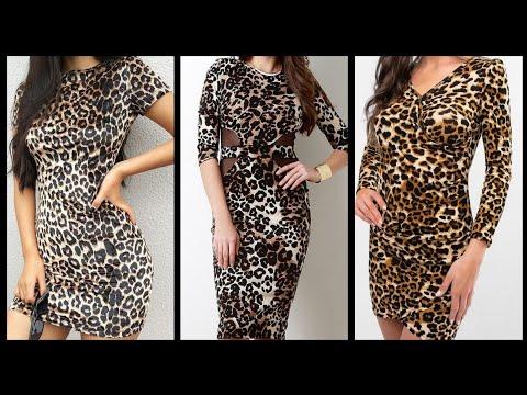 New Trend Upcoming Leopard Print Bodycon Dresses Design Ideas (2020)