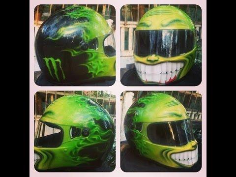 Мото шлем Bandit Fighter Monster Energy custom airbrush