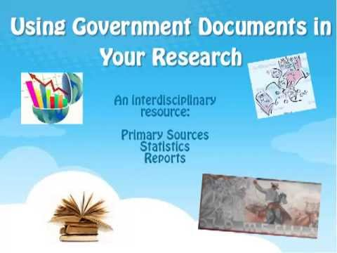 Using government documents in your research