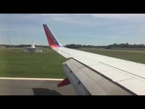HD Southwest Airlines Amazing landing in Albany International Airport