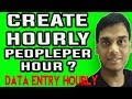 How to create data entry hourly on peopleperhour | typing, data entry hourly sample | Hindi