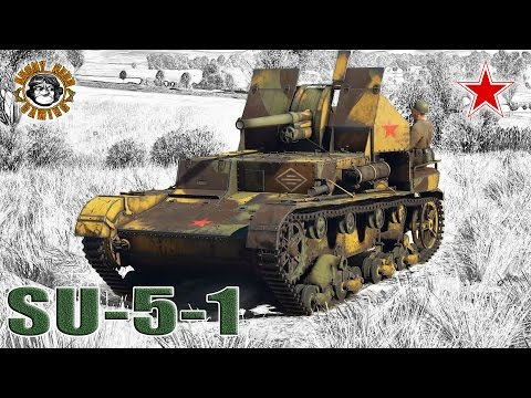 War Thunder: SU-5-1, Russian, Tier-1, Tank Destroyer
