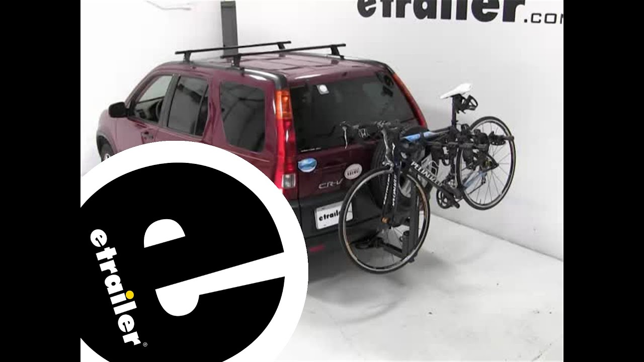 Review Of The Thule Hitching Post Pro Hitch Bike Rack On A 2003 Honda CR V    Etrailer.com   YouTube
