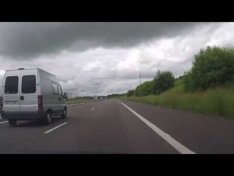 France by Autoroute - Troyes - A26 onto A5 south and east