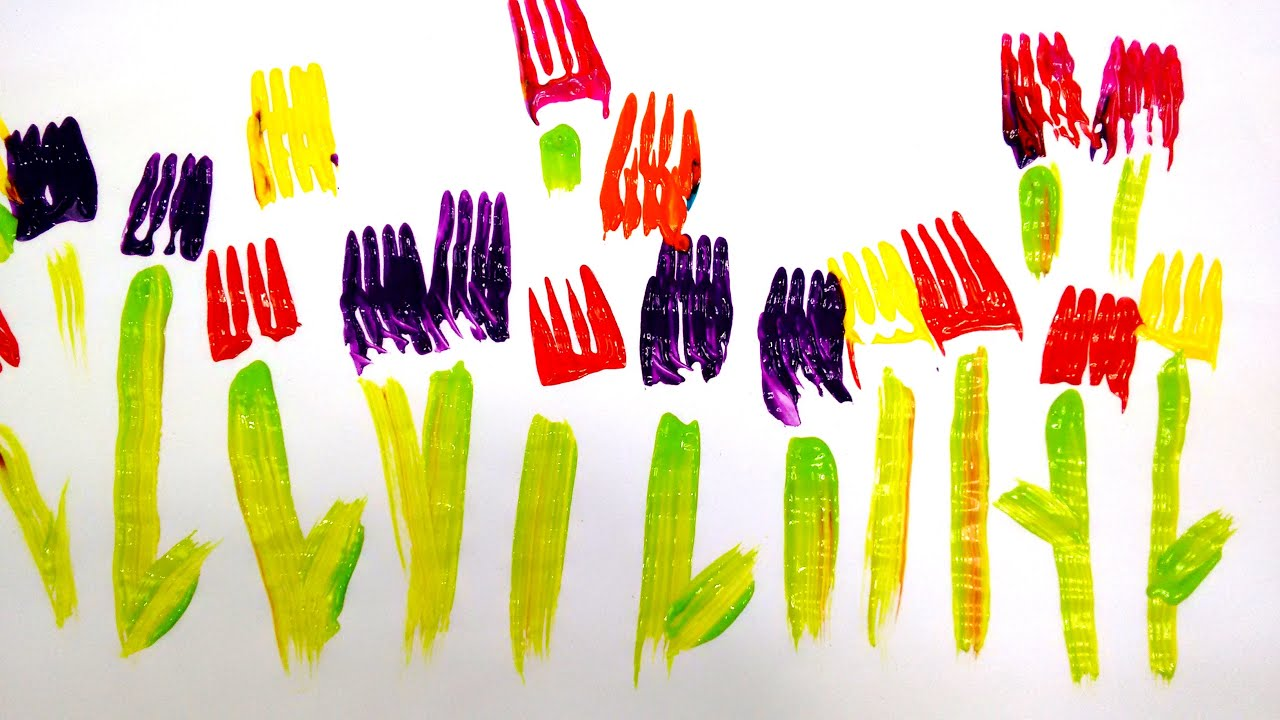 Painting With Forks Easy Activity For Kids Watch And Learn