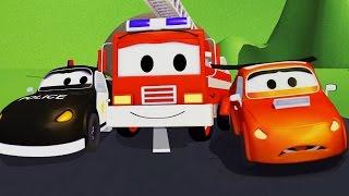 Плохая гоночная машина и Авто Патруль : пожарная машина и полицейская машина | мультик для детей