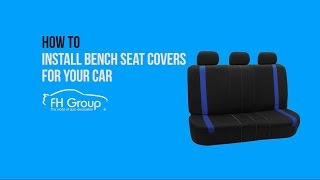 1 Minute Installation Car Rear Bench Seat Covers Installation - FH Group®