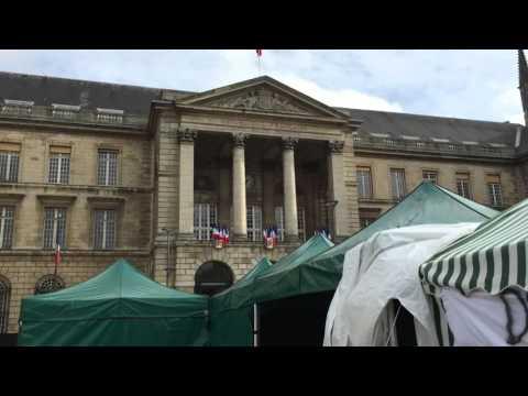 Campement pour le droit au logement à Rouen