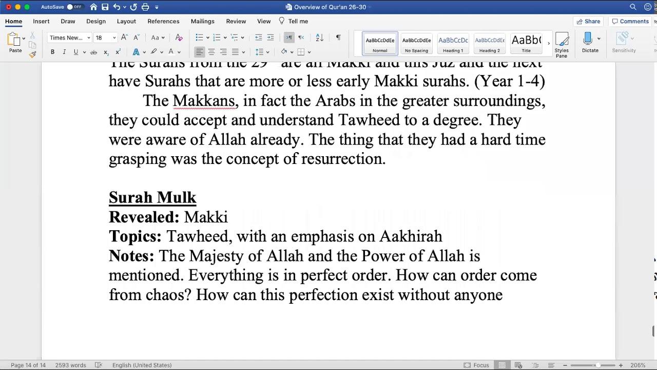 Sh. Zubair || Quranic Overview (Juz 29)