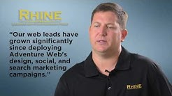 Baltimore Web design & marketing company, Adventure Web Interactive,  Rhine Landscaping testimonial