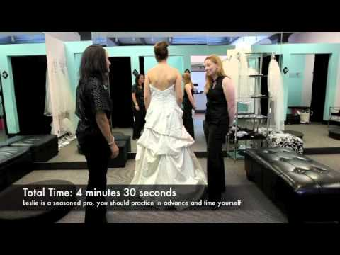 How to properly get into a wedding dress - YouTube