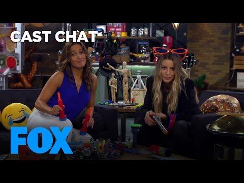 Jaina Lee Ortiz & Lauren German Juggle Their Silliness In The Fox Lounge  FOX BROADCASTING