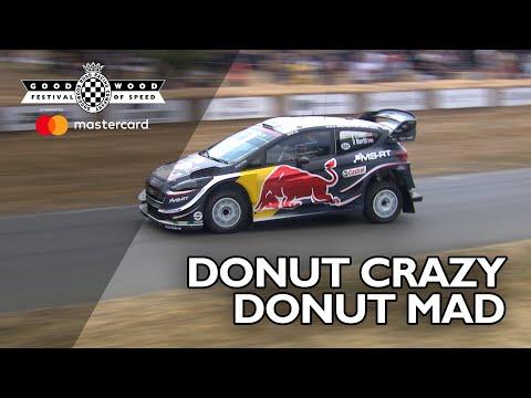 Elfyn Evans goes donut crazy in WRC Fiesta ST