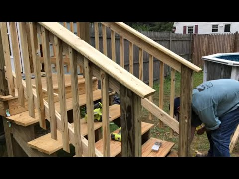 How To Add a Railing to a Stairway (Easy DIY Project)