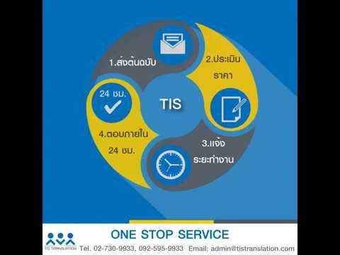 รับแปลภาษา รับแปลเอกสาร แบบONE STOP SERVICE โดยศูนย์การแปลTIS Translation