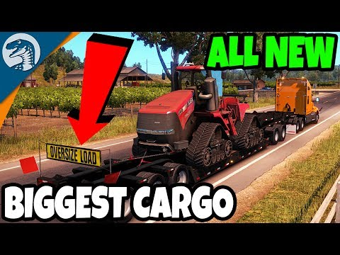 JUST RELEASED - NEW USA HEAVY CARGO DLC - BIGGEST CARGO EVER | American Truck Simulator Gameplay