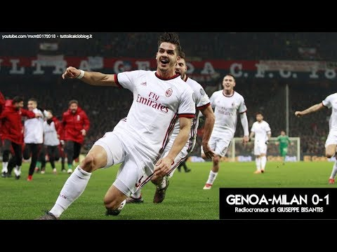 GENOA-MILAN 0-1 - Radiocronaca di Giuseppe Bisantis (11/3/2018) da Rai Radio 1