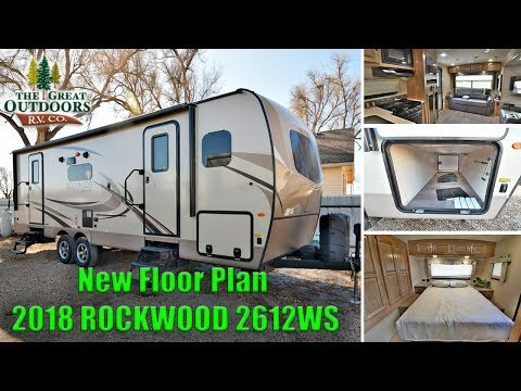 New 2018 ROCKWOOD 2612WS Travel Trailer Front Bedroom Double Axel Colorado Dealer