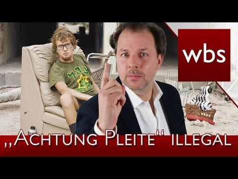 """Achtung Pleite"" App ist nun illegal | Rechtsanwalt Christian Solmecke"