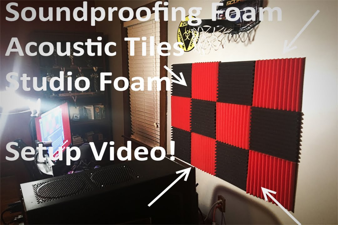 Soundproofing Foam Acoustic Tiles Studio Foam Setup